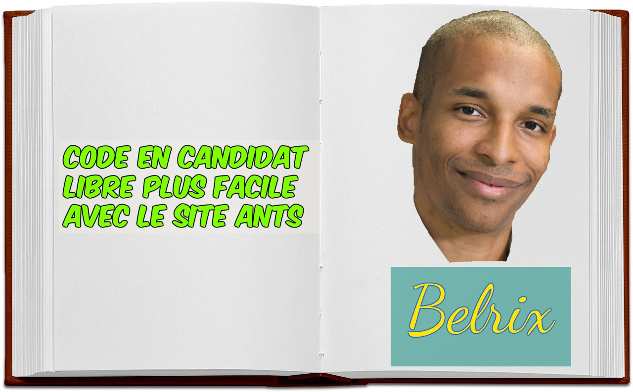 Code candidat libre site ANTS